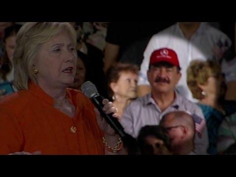 Orlando gunman's father seen at Clinton rally